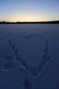 snö hjärta...
