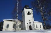 Över Luleå kyrka i Boden...