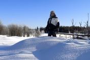 snö kungen i sin rätta miljö...