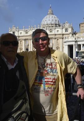 nu har jag sett både Springsteen och påven i Rom...