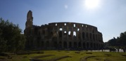 Colosseum i motljus...