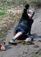 Erik trebarnsfar 52 år gammal åker i leran...
