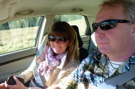 vi sjunger glada bilsånger under våran färd...