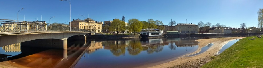 fina badstränder inne i Karlstads centrum...