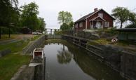 fint rastställe vid slussarna i Köpmannebro...