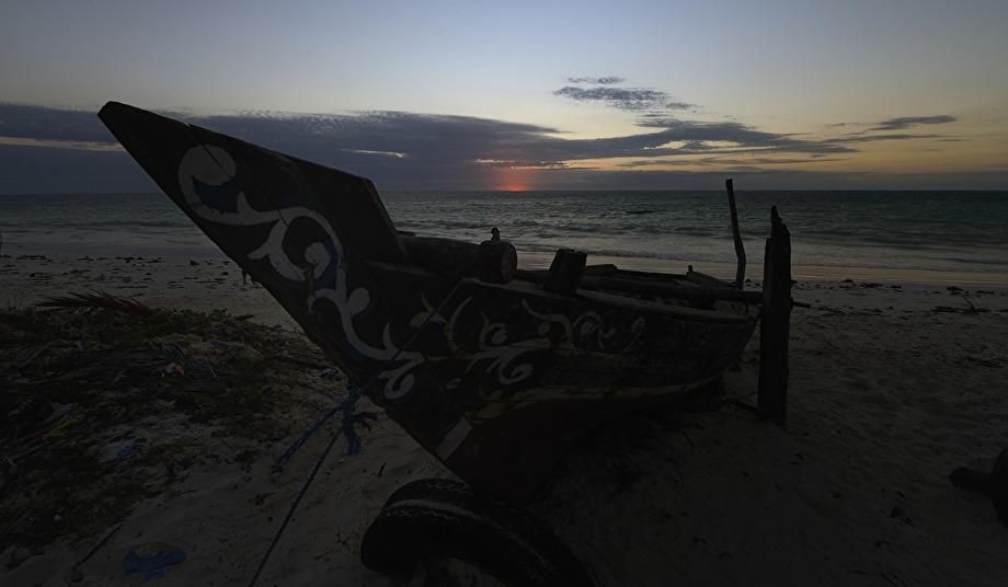 solen på väg upp klockan 0627...