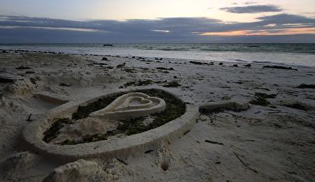 hjärta av sand...