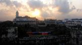 morgon utsikt från hotell taket...