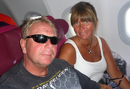 första flyget till Doha...