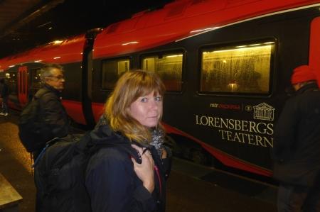 dags att gå på tåget klockan sju på morgonen...