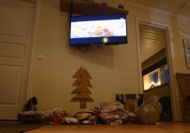 Carinas fantastiska gran håller julstämmningen på topp...