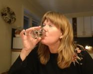 Carina hyfsar till nivån i glaset som GW skulle sagt...