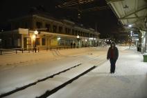 Carina luftar sig i Östersund på hemvägen...