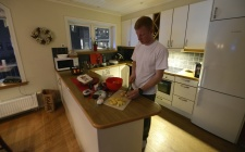 Fredrik lagar jättegod fisksoppa...