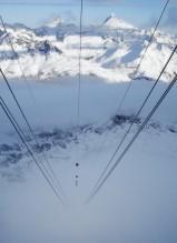 Europas högsta lift 3883m Klein Matterhorn