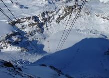 Kabinlinorna till Klein Matterhorn 3883m