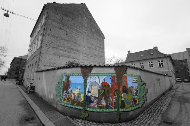 väggmålning i Helsingör...