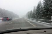 full snöstorm på Hallandsåsen...