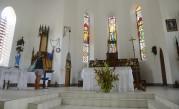 vi gick till kyrkan och tände ett ljus för nära och kära...
