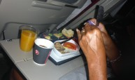 vidrig mat på flyget...