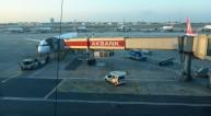 Istanbuls flygplats klockan sju på morgonen, jiiipiii...