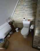 öppen planlösning för toaletten...