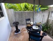 Carinas första hemlagade lunch, en pyttipanna på ägg och bacon, jättegott...