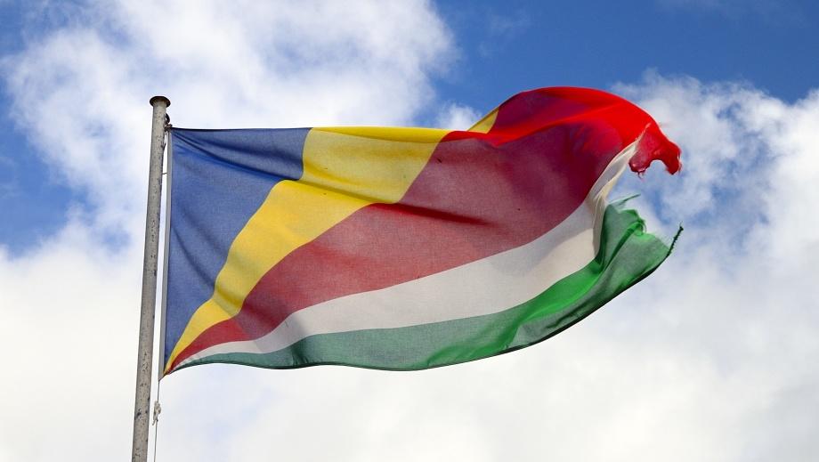 Seychellernas flagga...