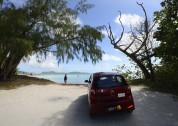 kollar in stranden, nää, vi åker vidare till nästa...