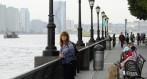Carina blickar ut från Battery Park...