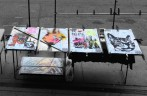 dessa konstverk låg bara så här på gatan klockan 0730 på morgonen...