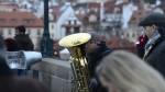 The Bridge Band spelar som vanligt på Karlsbron...
