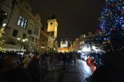 """nu närmar vi oss Old Town Square, jag kallar det för """"klocktorget""""..."""