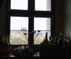 utsikt från ölstugan i klostret...