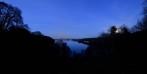 sett från Jonsereds Herrgård, fullmånen till höger...