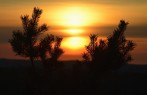 solnedgång...