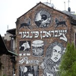 fina väggmålningar i judiska kvarteren...
