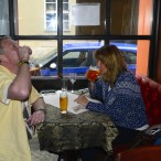 till bartenderns förtjusning beställde jag in en Mad Dog Shot... polsk vodka med tabasco !!!
