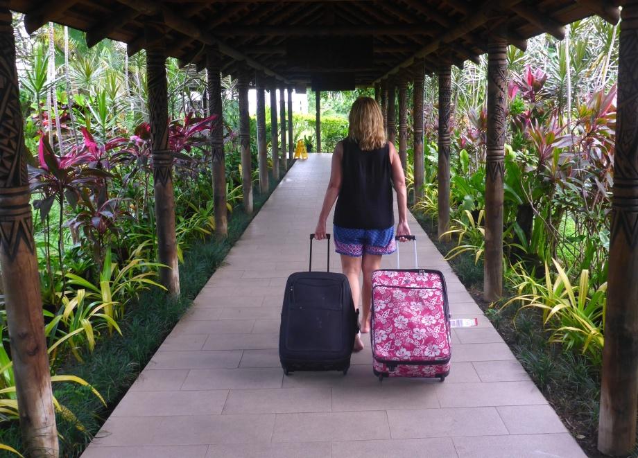 väskorna kom fram till slut, 34 timmar försenade...