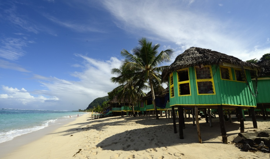 våran nya strand på Upolo, Lalomanu...
