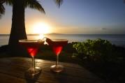 röda cocktails passar i solnedgången...