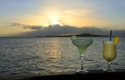 margarita och pina colada i solnedgång...