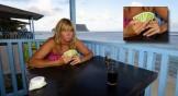 gurka på Samoa, jag tror visst nosen fått en dålig hand...