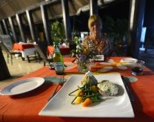 middag med färsk fisk såklart...