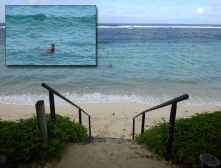 långt till stranden, på Booking stog det strandnära...