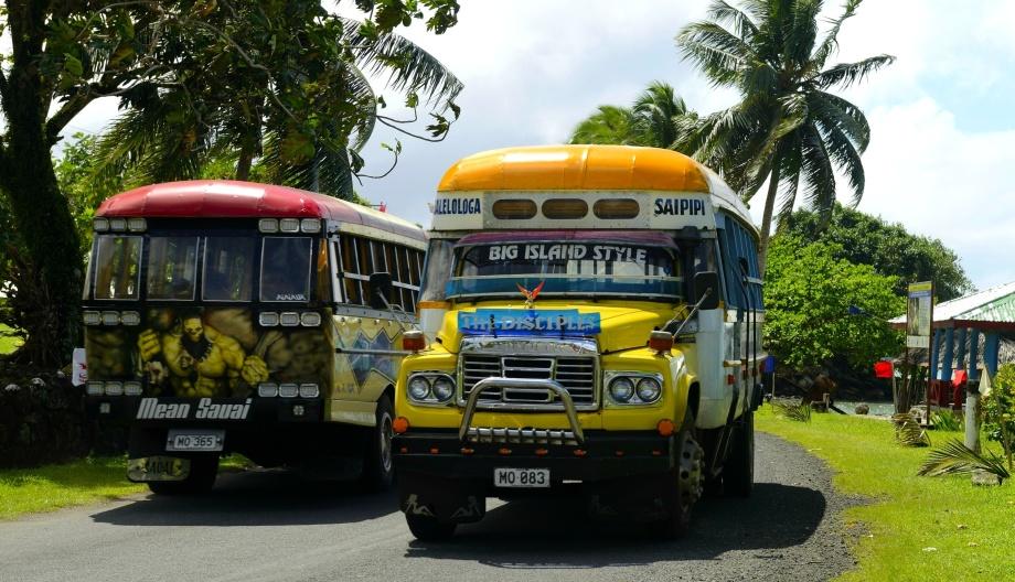 bussarna går inte efter tidtabell men dom är roligare än Västtrafiks blåa bussar...