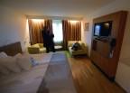 vårat hotellrum på nionde våningen...