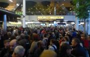 kaos vid passkontrollen till Glasgow, Shipold Amsterdam...