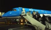 KLM flyger oss hem via Amsterdam...