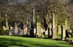 vacker kyrkogård...